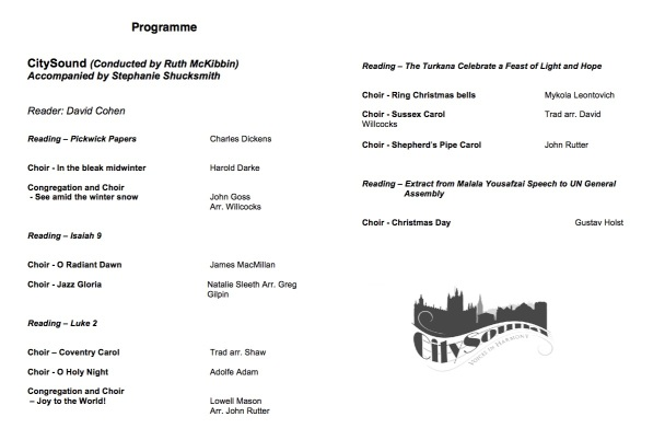 Gift of Christmas Programme JPEG