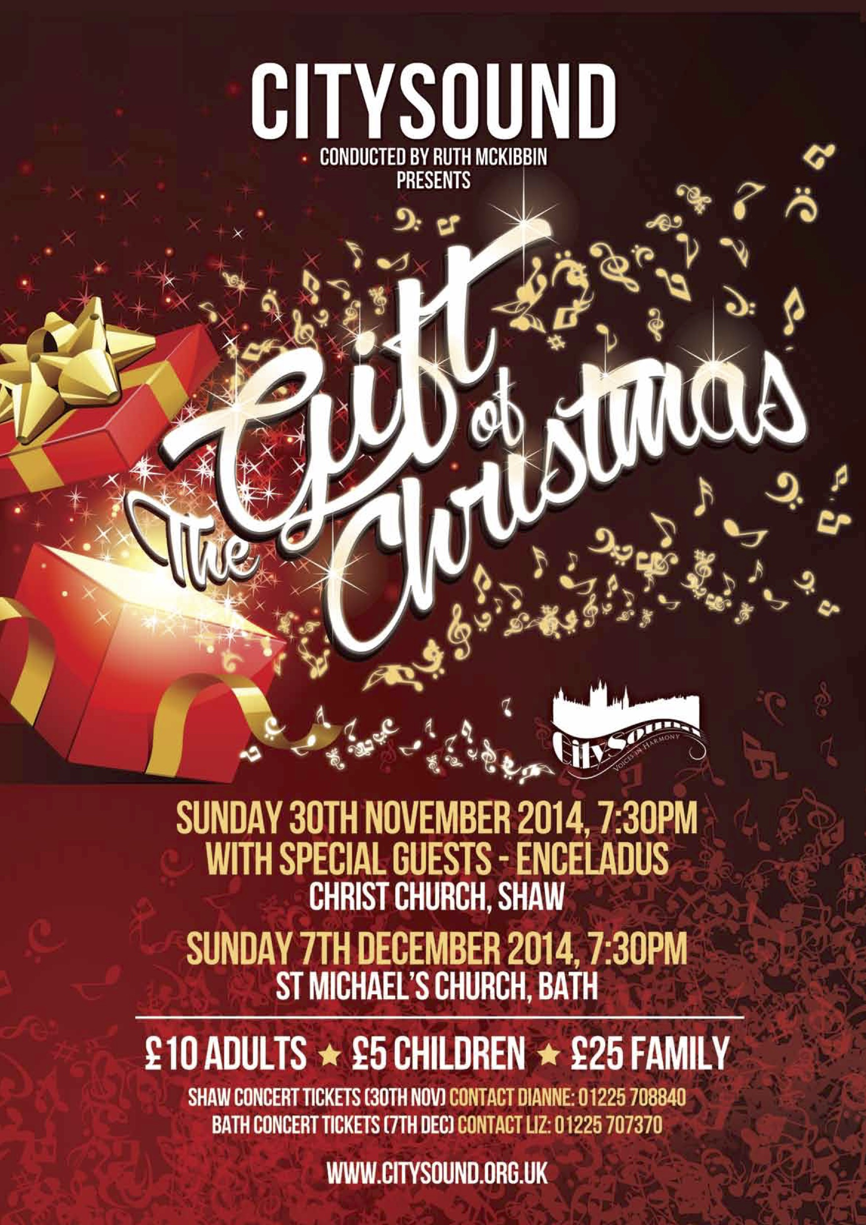 citysound in concert the gift of christmas