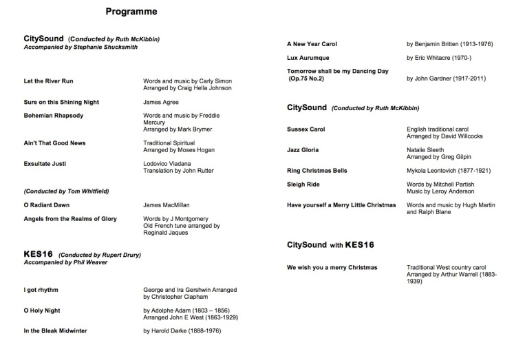 Sound of Christmas PRogramme JPEG