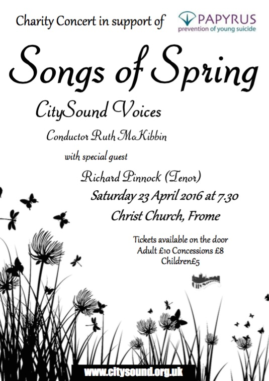 Songs of Spring Concert Poster